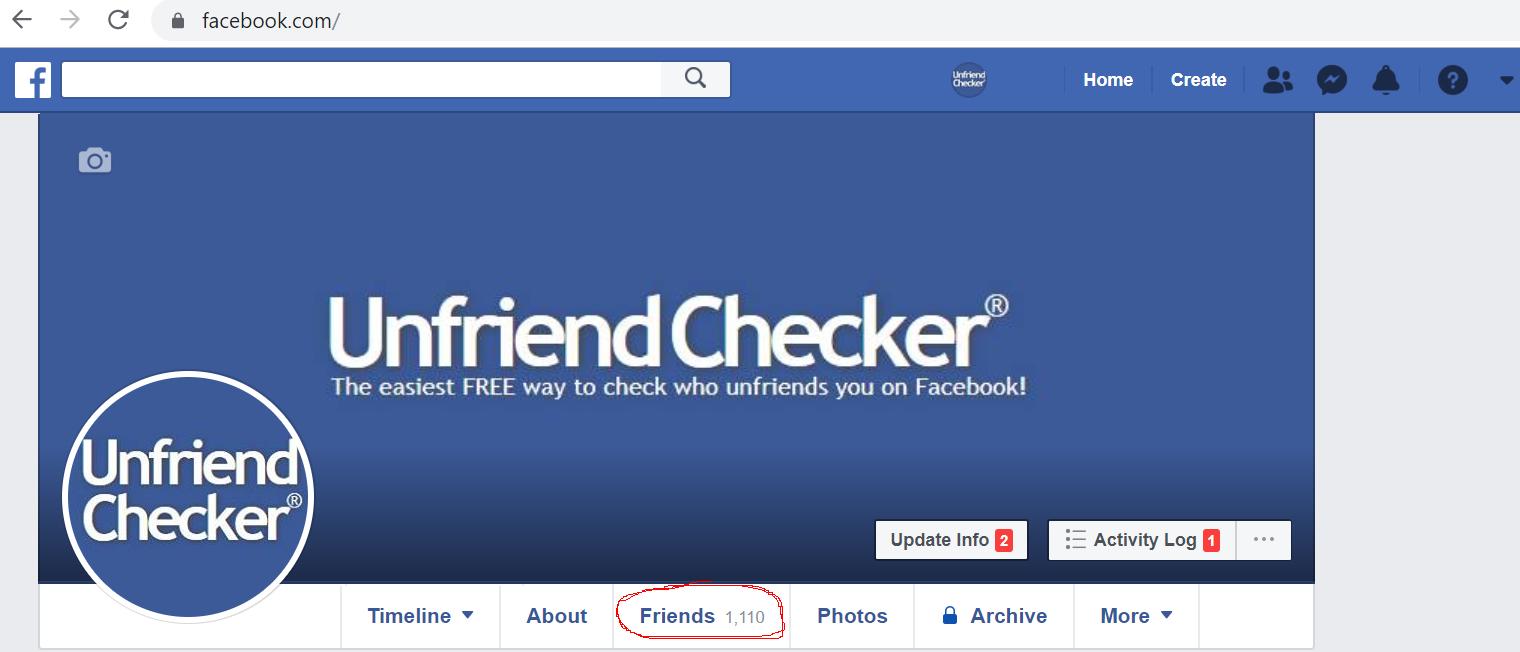 friends unfriend button