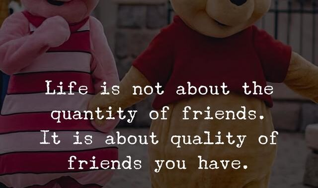 Life is not about the quantity of friends. It is about quality of friends you have